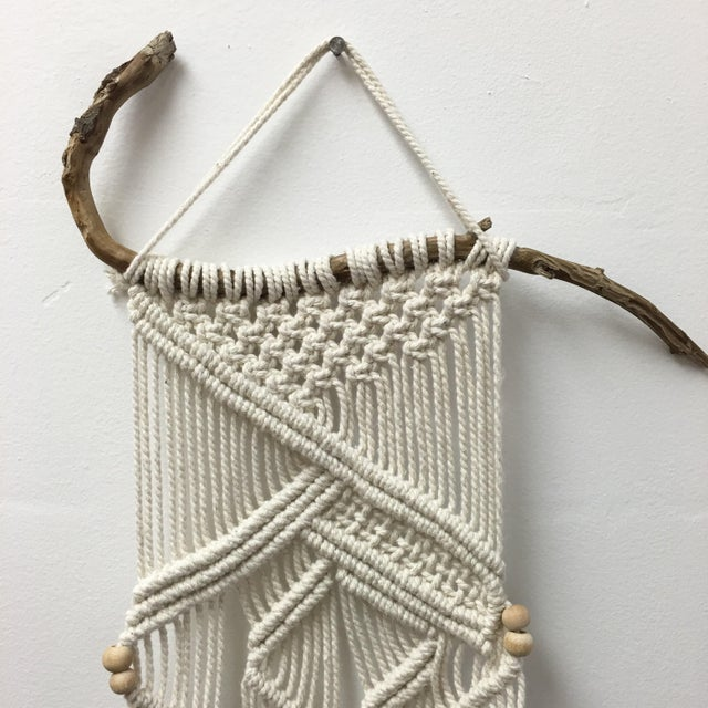 Handmade Macrame on Natural Branch - Image 6 of 8