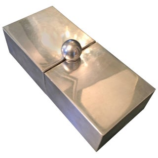 Silver Plate Dual Purpose Collapsible Box For Sale