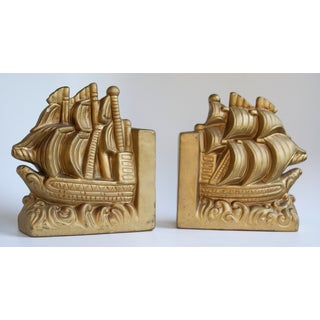 Gold Nautical Book Ends - A Pair Preview