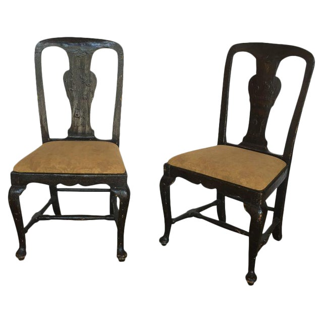 18th C. Lacquered Side Chairs - A Pair For Sale