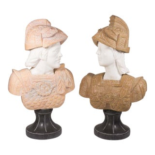 Marble Busts of Roman Soldier