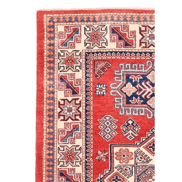 Kazak rugs are famed for their rich colors, assertive and geometric drawings, and bold, and large-scale designs. The...