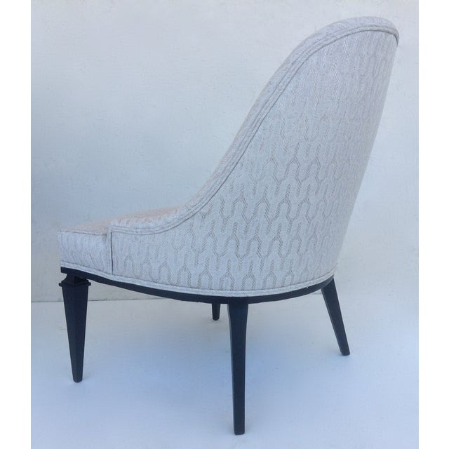 White Lounge Chairs by Michael Taylor for Baker - A Pair For Sale - Image 8 of 11