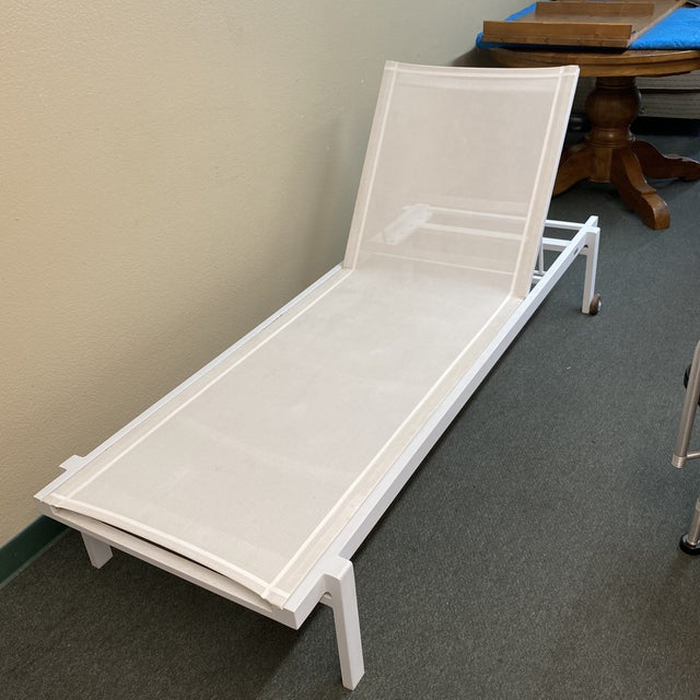 Mamagreen Allux White Outdoor Lounger For Sale - Image 12 of 13