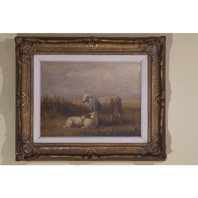 """""""Ewe and Pair of Lambs"""" Painting - Image 3 of 9"""