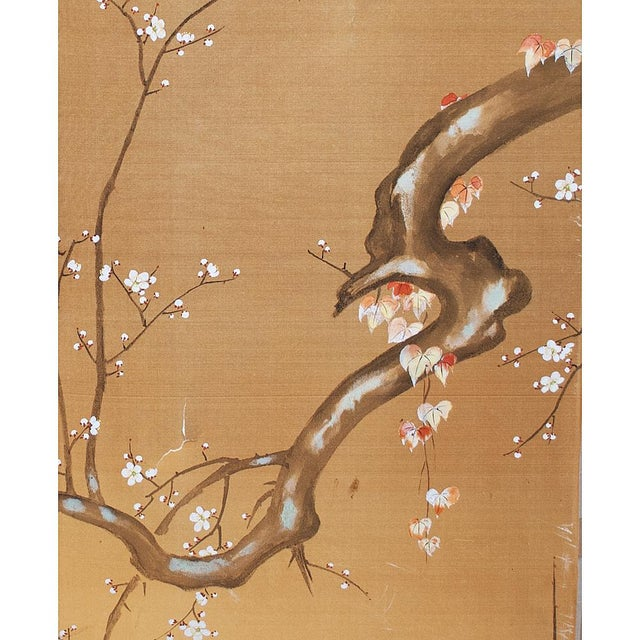 1960s 1960s Japanese Large Gold Silk Panels - Set of 2 For Sale - Image 5 of 9