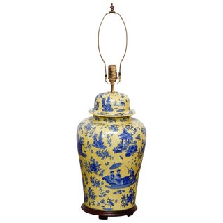 Porcelain Chinoiserie Ginger Jar Lamp by Kinder Harris For Sale