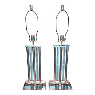 Lucite Table Lamps - a Pair