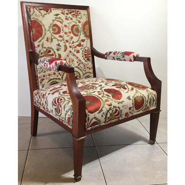 1960s 1960s Vintage French Suzani Armchair For Sale - Image 5 of 13
