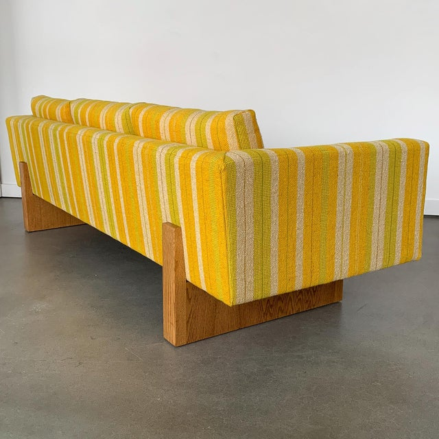 1960s Harvey Probber Tuxedo Sofa With Oak Legs For Sale - Image 5 of 13