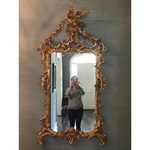 Belle Epoque Belle Époque Gold Carved Wood Mirror For Sale - Image 3 of 6