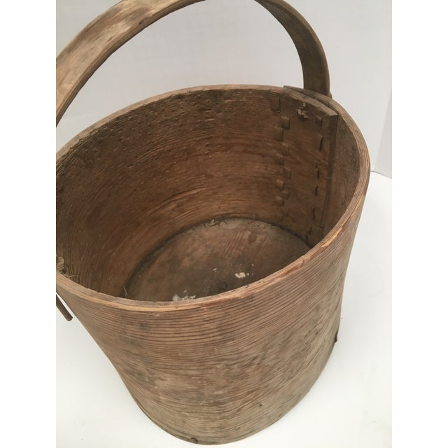 Antique Wood Butter & Cheese Basket For Sale - Image 4 of 10