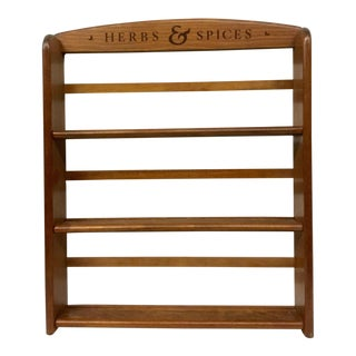 1960s Country Wood Wall Spice Rack For Sale