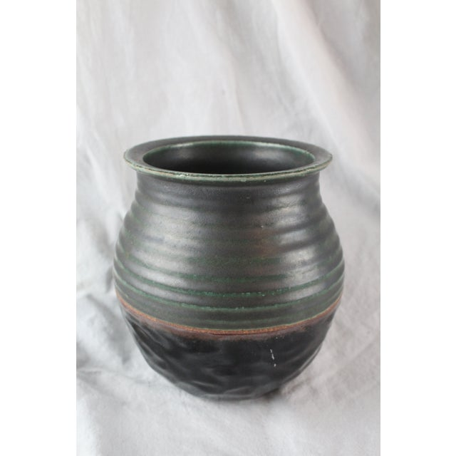Late 20th Century Vintage Textured Ceramic Cachepot For Sale - Image 5 of 6