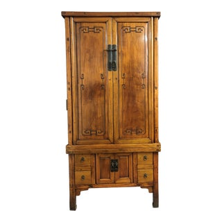 Antique Chinese Style Wooden Armoire For Sale