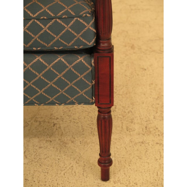 Thomasville Vintage Thomasville Mahogany Sheraton Upholstered Club Chair For Sale - Image 4 of 11