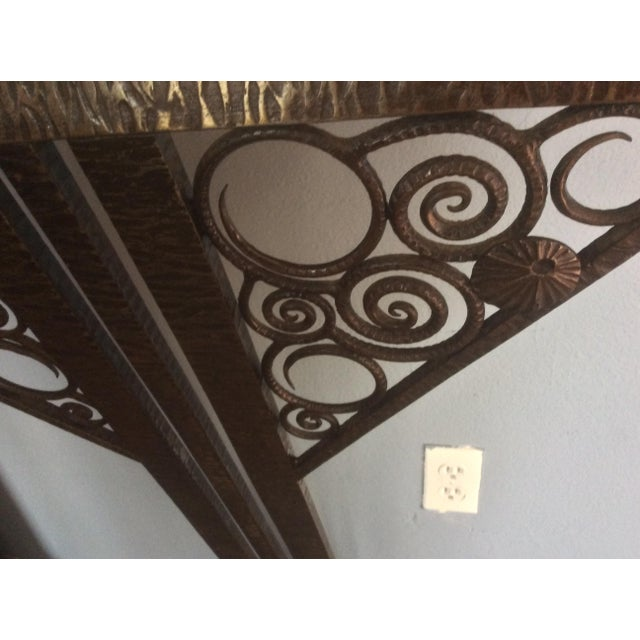 Amber Wrought Iron Console Table and Mirror Set For Sale - Image 8 of 11