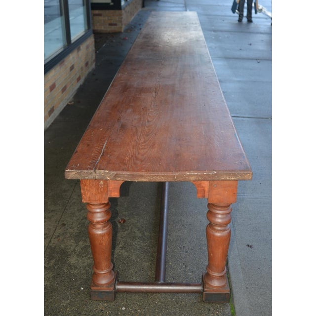 19th Century Fir Dining Table - Image 4 of 6