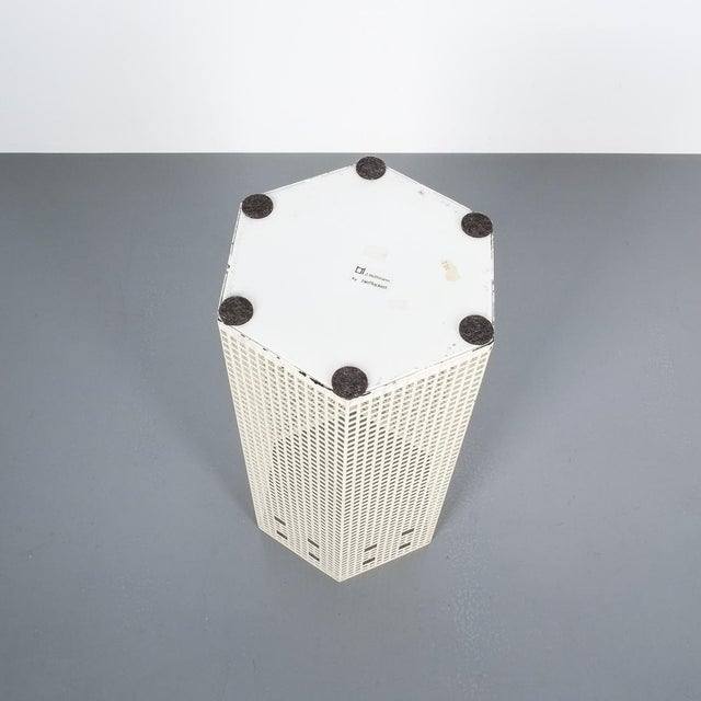 Josef Hoffmann Umbrella Stand for Bieffeplast White, Italy, Circa 1980 For Sale - Image 6 of 7