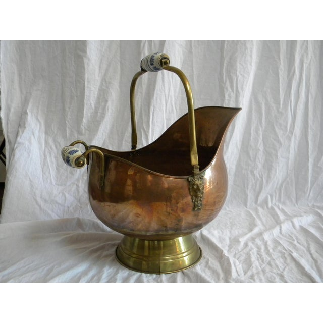 Vintage Copper Fireplace Bucket With Handles For Sale In Milwaukee - Image 6 of 6