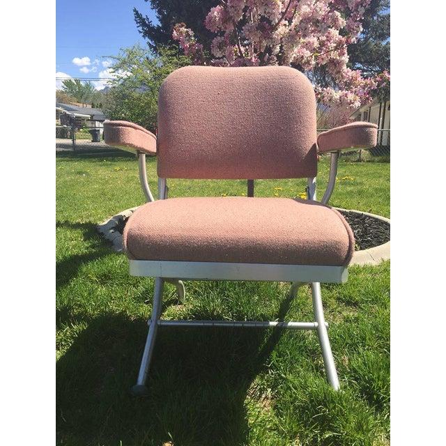 Warren McArthur Pink Upholstered Folding Chair - Image 2 of 8