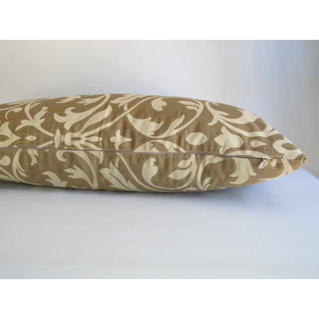 Gold Damask Bolster Pillow - Image 5 of 5