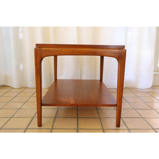 Lane Rhythm Mid-Century Walnut Side Table For Sale In Milwaukee - Image 6 of 10