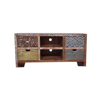 Rustic Tyson Wooden Media Cabinet For Sale