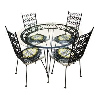 Mid Century Modern Arthur Umanoff Dining Set- 5 Pieces For Sale