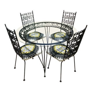 Mid Century Modern Arthur Umanoff Patio Dining Set- 5 Pieces For Sale