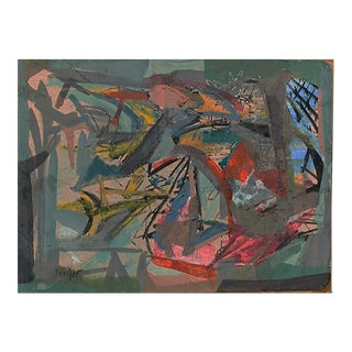 Josef Presser Abstract Composition For Sale