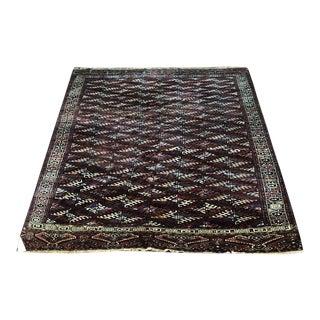 Antique Tribal & Primitive Turloman Yamout Rug - 5′11″ × 11′5″ For Sale