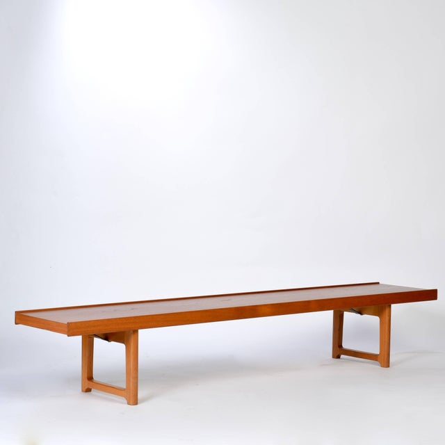 Long Teak Bench 'Krobo' by Torbjörn Afdal for Bruksbo For Sale In Los Angeles - Image 6 of 9
