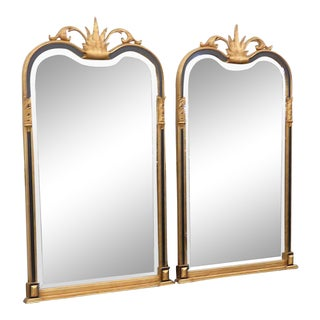 Regency Style Distressed Gilt Wall Mirrors - a Pair For Sale
