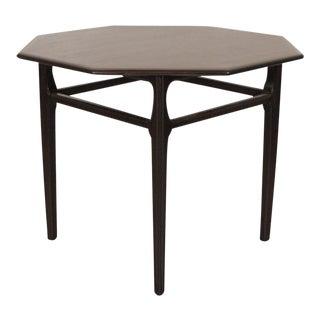 1960s Mid-Century Modern Dark Walnut Side Table For Sale