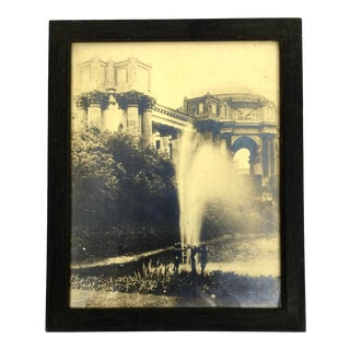 1915 Fountain at Lagoon Palace of Fine Arts Triptych Framed Photo For Sale