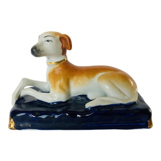 Vintage Staffordshire Whippet For Sale