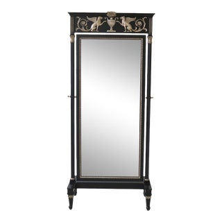 Maitland Smith Neoclassical Cheval Mirror For Sale