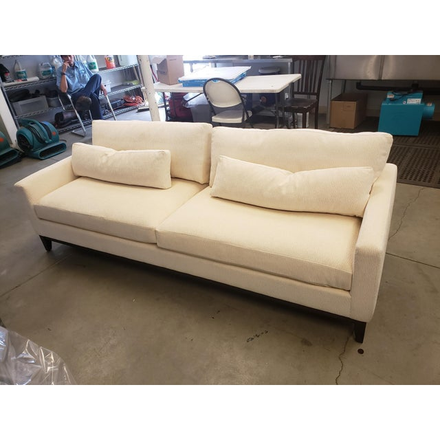 Cream Modern Kravet Cream Sofa For Sale - Image 8 of 8