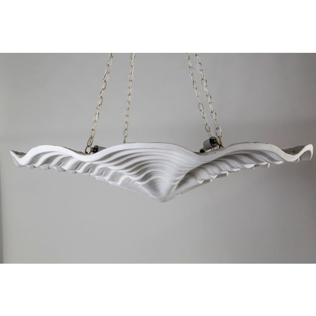 Mammoth White Plaster Shell Pendant For Sale In San Francisco - Image 6 of 9