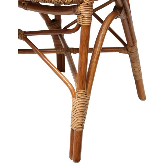 Rattan Bistro Dining Chairs - Set of 4 - Image 4 of 7