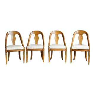 Late 20th Century Neo Classic Karges Dining Chairs - Set of 4 For Sale
