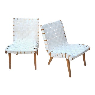 1950s Jens Risom for Knoll Lounge Chair Pair For Sale