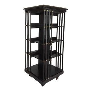 1870s Empire Style English Revolving Bookshelf For Sale