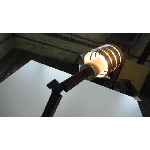 Contemporary Adjustable Crane Desk Lamp For Sale - Image 3 of 7