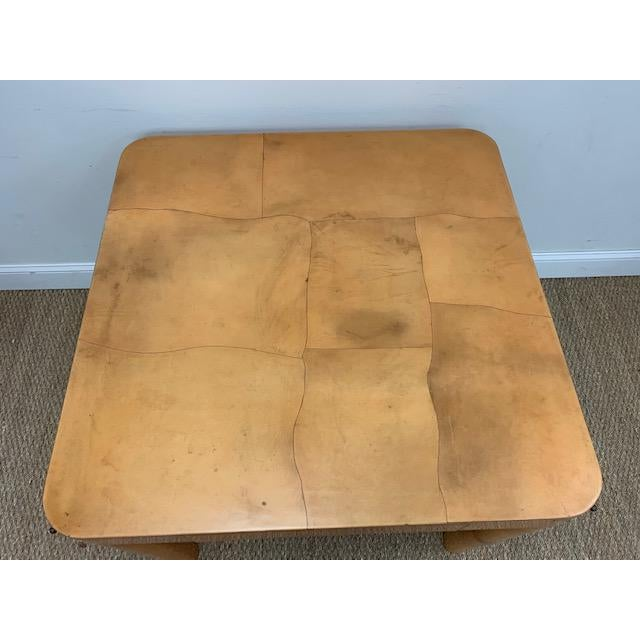 Mid-Century Modern Goatskin Game/Card Table, Attributed to Karl Springer For Sale - Image 3 of 9
