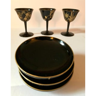Late 20th Century Japanese Lacquer Stems & Bowl Set - 7 Pieces Preview
