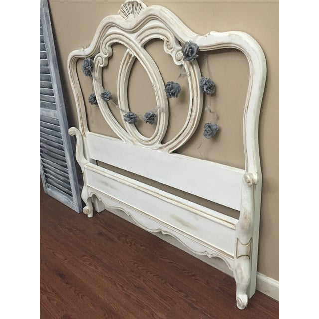Vintage French Provincial Twin Size Bed - Image 4 of 7