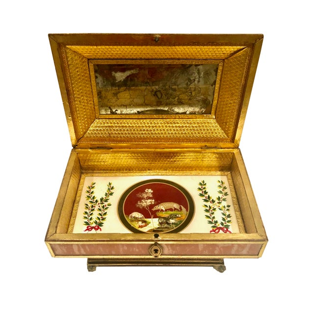 Early 19th Century Early 19th Century Neoclassical Style Work Box For Sale - Image 5 of 9