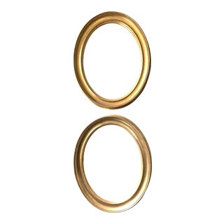 Vintage Oval Gold Gilt Frames - a Pair For Sale